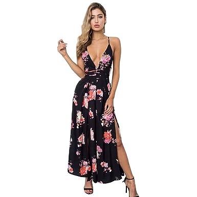 Verano Mujer Elegantes Moda Sin Casual Mangas Falda Pantalones ...