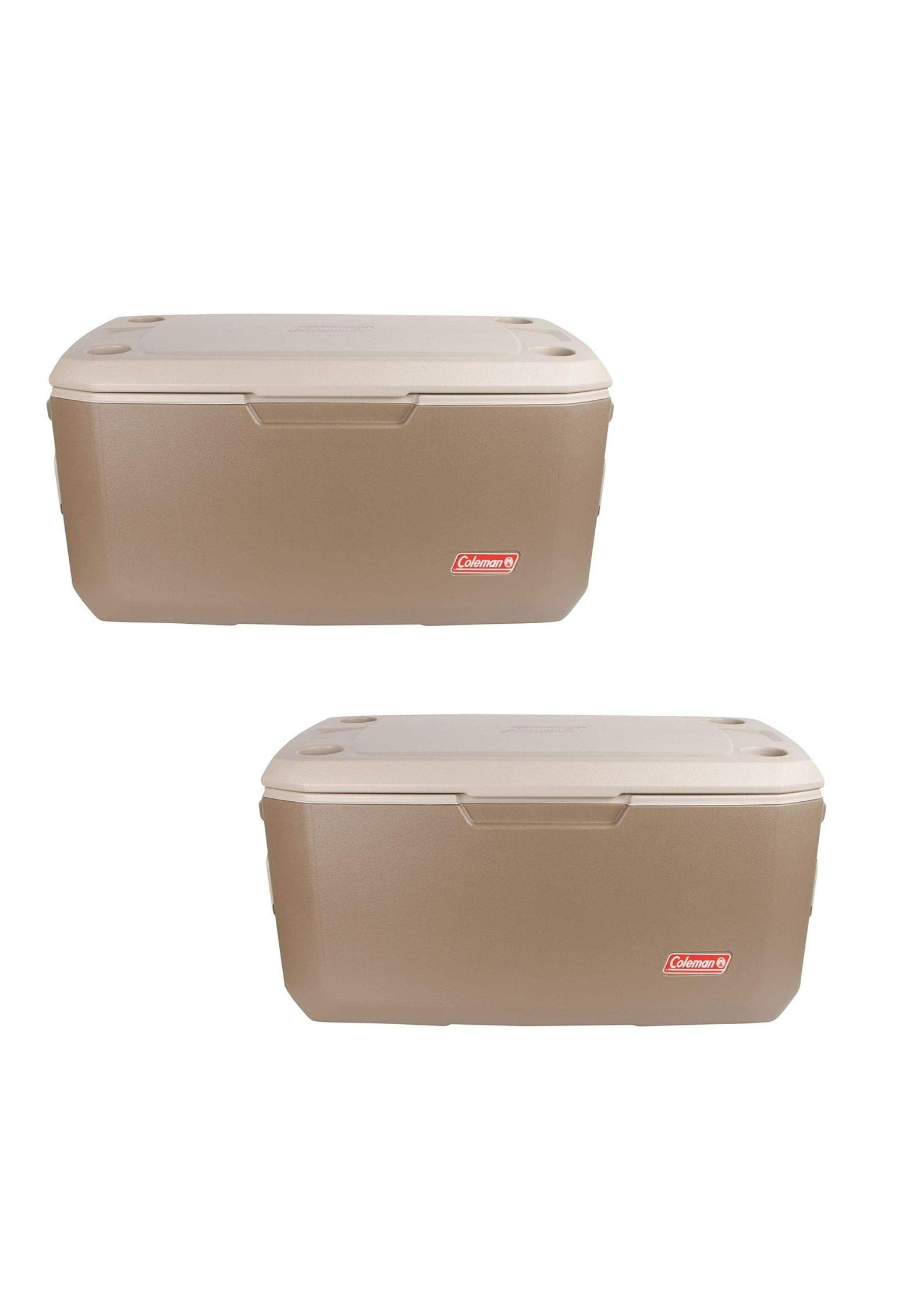 Coleman 120-Quart Xtreme 6-Day Heavy-Duty Cooler, Tan (120 Quart/Pack of 2)