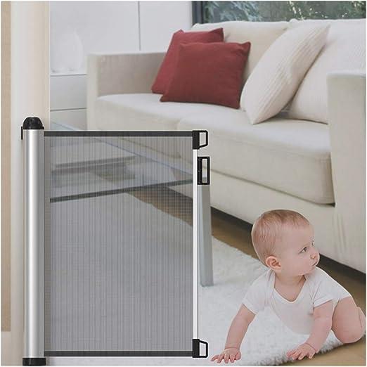 HBIAO Barreras para Puertas y escaleras, Puerta de Seguridad para bebé Extra Ancha Diseño de Malla