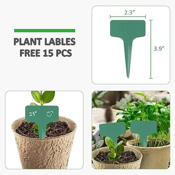 XIAOYING Crecer Filtro del envase de Bricolaje Planter PE Telas plantones de hortalizas jardiner/ía Espesar crisol de establecimiento Grow Suministros Bolsa de jard/ín