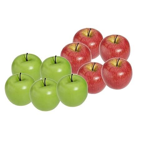 SODIAL(R) Decorativas Artificial Manzana Plastico Frutas Imitacion ...