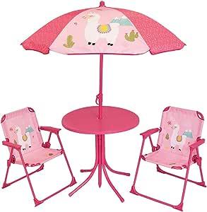 FUN HOUSE 713141 Lola Le Lama - Juego de Mesa y 2 sillas Plegables ...
