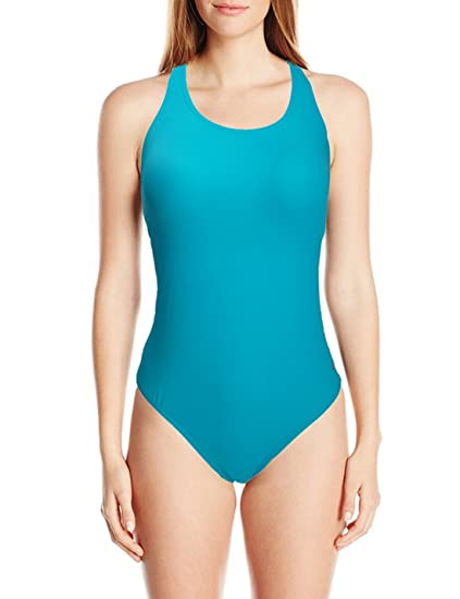 UNOW Women Pro Training Racerback Slimming One Piece Swimsuit (Teal  Blue a1a0bf1d9
