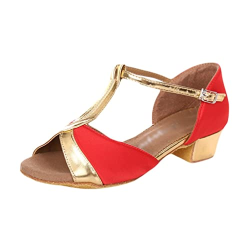 8a504b780 Lihaer Summer Women's Low-Heel Breathable Sandals Professional Girls Latin  Dance Shoes: Amazon.co.uk: Shoes & Bags