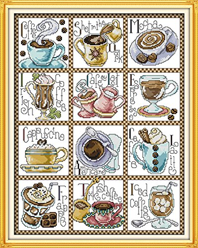AngelGift Needlecrafts Stamped Counted Cross Stitch Set, Tab