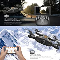 Inverlee TK112HW Portable Foldable HD 720P Camera 2.4G 4CH 6-Axis WIFI FPV RC Quadcopter (Black)