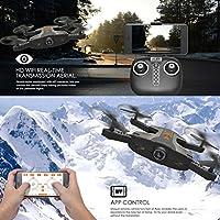 Inverlee TK112HW Portable Foldable HD 720P Camera 2.4G 4CH 6-Axis WIFI FPV RC Quadcopter (Black)