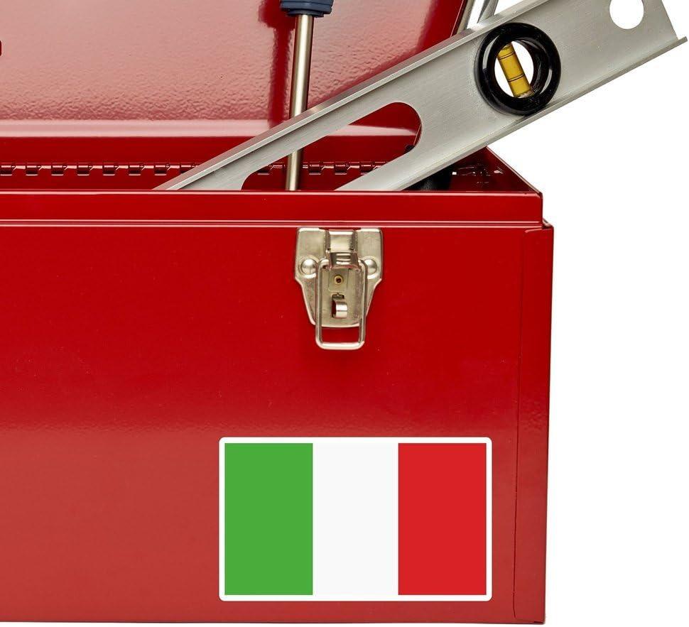 2 x 10cm//100mm Italia Bandiera Italiana adesivo vinile adesivo da viaggio per portatile auto bagagli iPad segno divertimento #5268