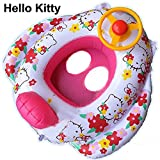 Summer Inflatable Baby Infant Kid Toddler Child Children Boy Girl Swim Swimming Pool Boat Ring Raft Float Tube Seat Safety Aid Trainer (Hello Kitty)