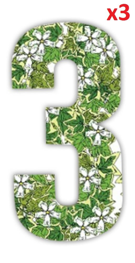Wheelie Bin numbers Ivy Stickers for House Number, Sulo Bin Or Rubbish Pattern Sulo Bin Rubbish Pattern MONOGRAM Classic Signs