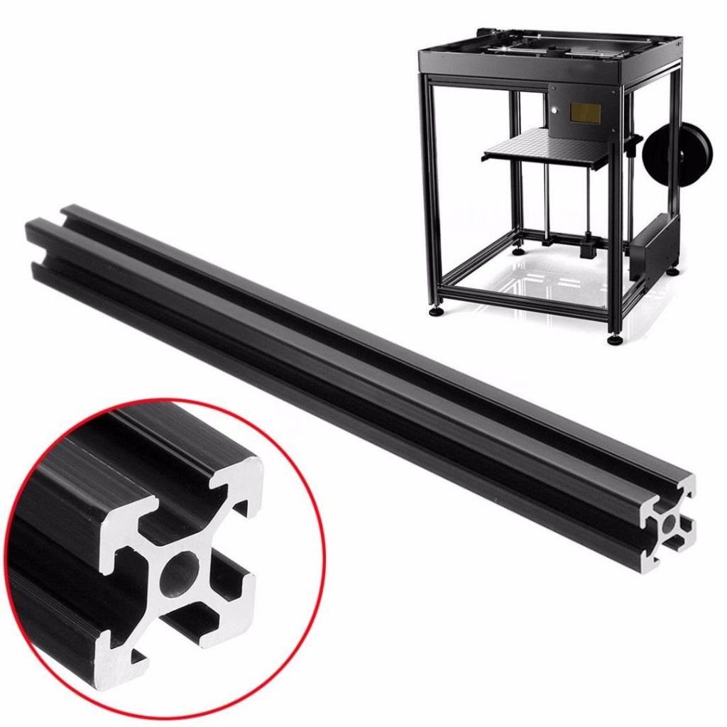 2020 T Slot Aluminum Profile Extrusion Frame for DIY Black 20cm//30cm//40cm//50cm//60cm FLAMEER Aluminum Frame - 40cm