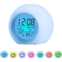 BZ 7 Color Changing LED Digital Alarm Clock for Kids