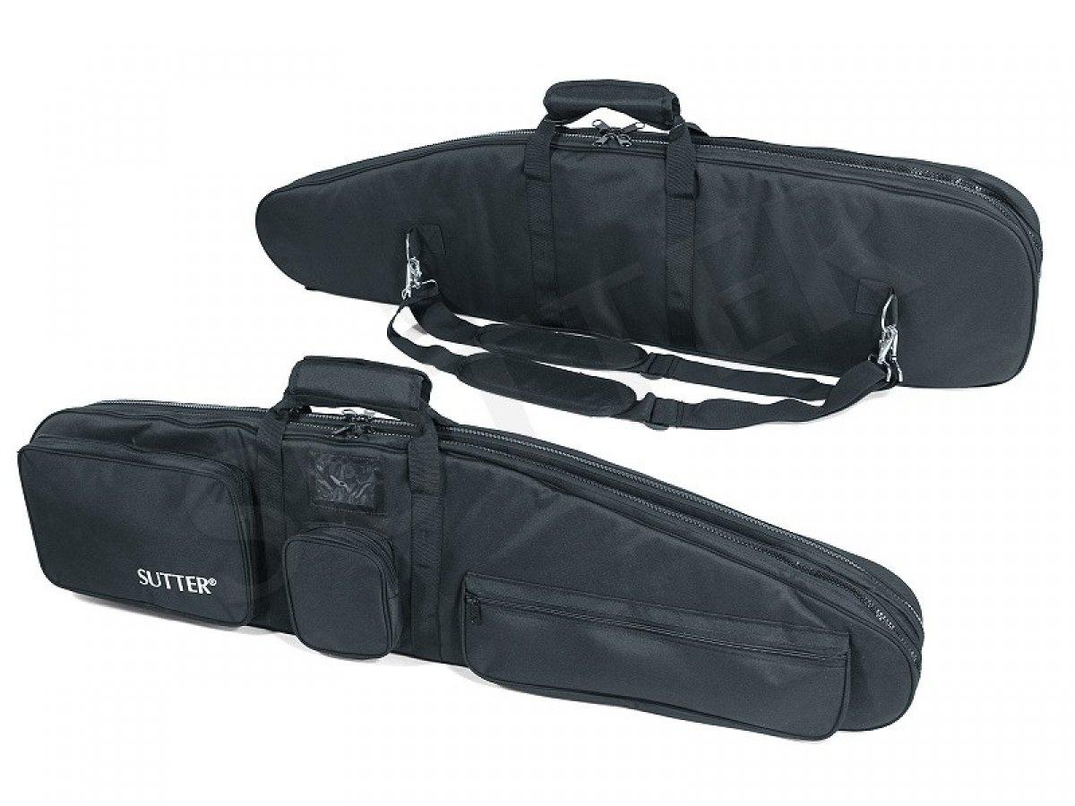 Funda para armas doble PREMIUM 125x37cm - Funda para dos armas largas con ópticas Maletín para rifles SUTTER®