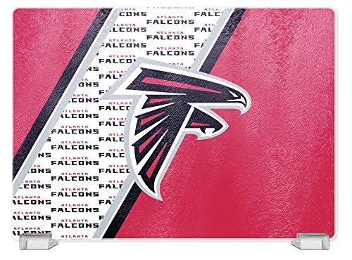 NFL Atlanta Falcons Tempered Glass Cutting Board with Display Stand