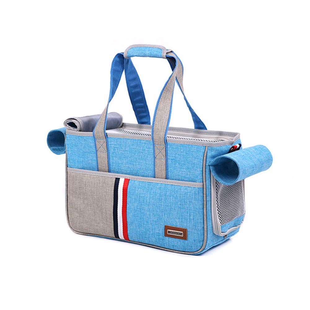 Skybluee Small skybluee Small Pet Travel Tote Bag Shoulder Diagonal Bag Out Out Mesh Bag Breathable, Travel Puppy and Cat