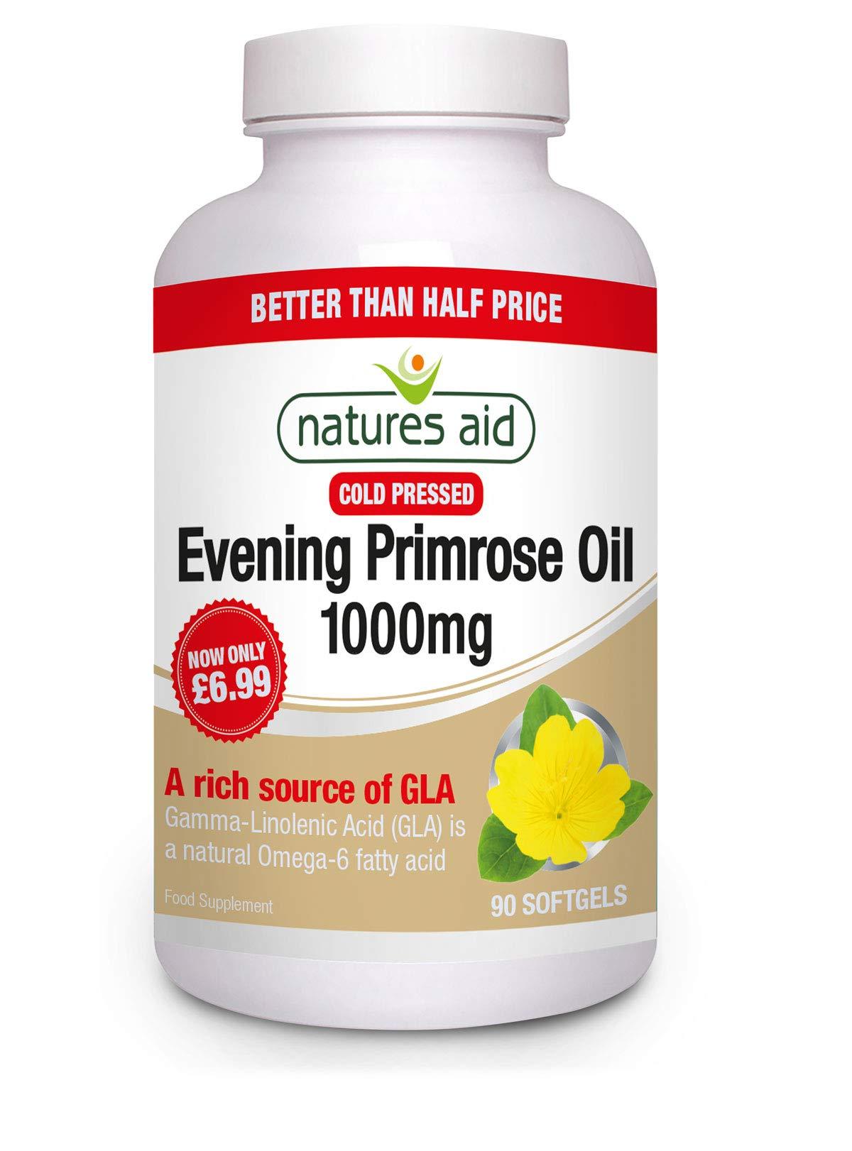 Natures Aid Evening Primrose Oil 1000 Mg, 90 Capsules