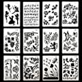 DEPEPE Plastic Stencils for Journal Painting Craft, Pack of 12