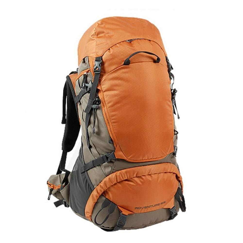 旅行ハイキングバックパックトレッキング登山クライミングキャンプリュックサック男性女性 CONGMING (色 : Orange, サイズ さいず : 65L) 65L Orange B07QGB4435