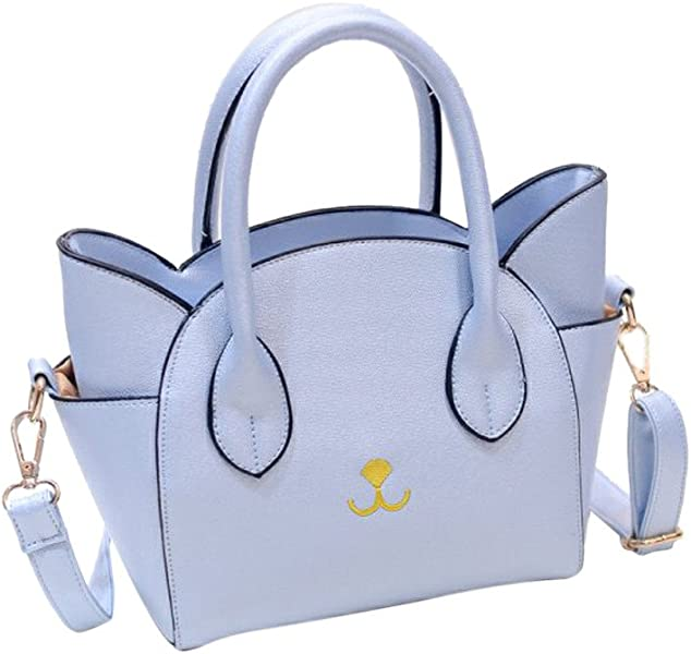 Amazon.com: Women bags Cat Face Shoulder Bags Totes Handbag Messenger Bag small Crossbody Coin Bag leather crossbodybags bolsas feminina #75 Color Blue: ...