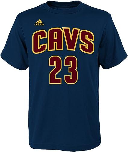 Adidas Lebron James Cleveland Cavaliers Bleu Marine Youth Nom et numéro Jersey T Shirt