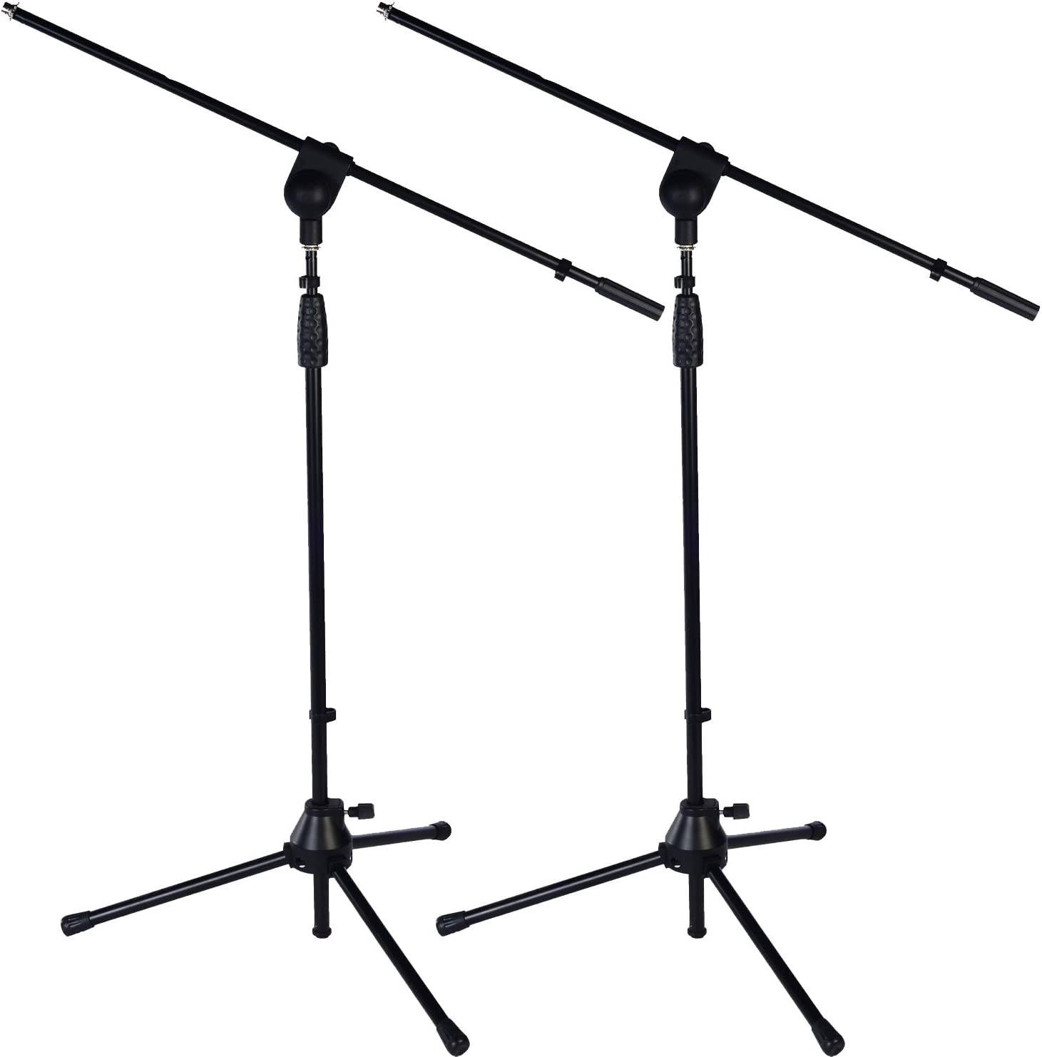 "2 Pack LyxPro Microphone Stand Boom Arm Tilting Rotating Floor Podium Stage or Studio Strong Durable And Foldable Height 38.5""- 66"" Extends Arm to 29 3/8"" Comes With 3/8"" and 5/8"" mount Adapters TMS-1"