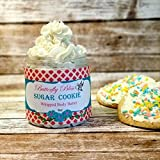 Sugar Cookie Whipped Body Butter, natural lotion, organic, 8oz jar, made with shea butter, mango butter, coconut oil, almond oil