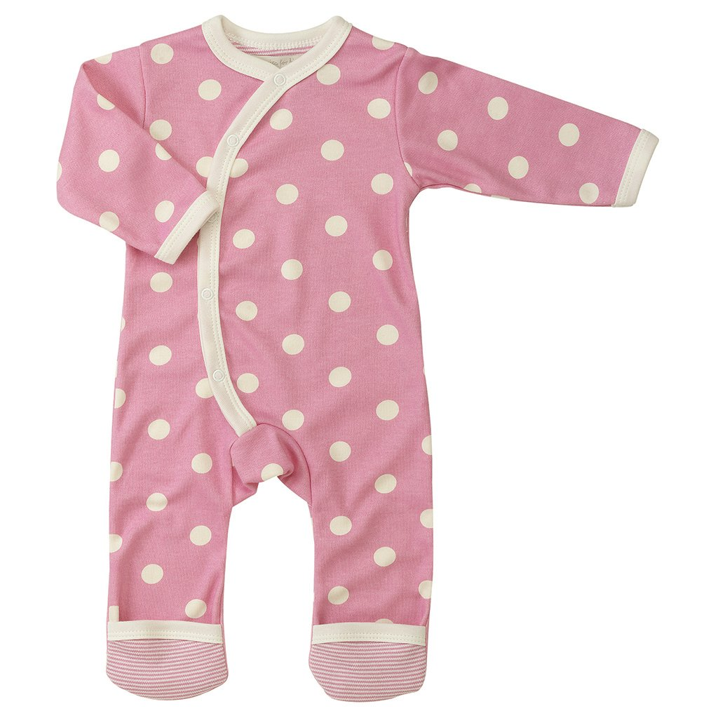 Pigeon-organics For Kids Grenouillè re Pyjama Long Pois Rose 0-5 mois OFK-ROL SPOPIN 0-5M