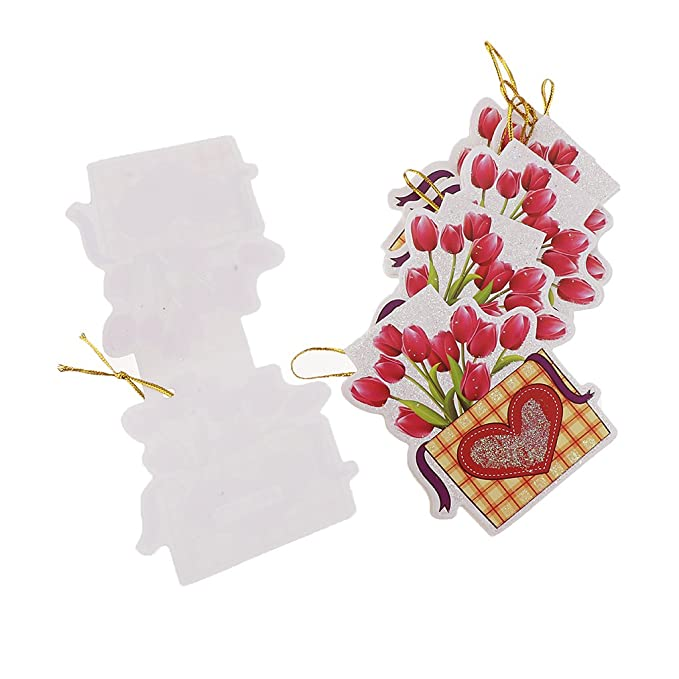 160pcs Flower Greeting Message Cards Hanging Notes Cards Party Decoration