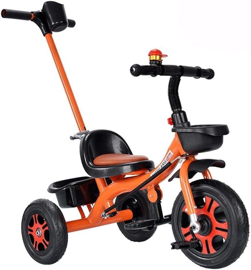 Triciclos Multifunción Triciclo De Dos-en-uno Del Empuje Del Muchacho Triciclo Chica Montar Bicicleta Cómodo Asiento Amplió Eje Trasero Neumático For Todas Terreno 4 Colores Se Pueden Utilizar Como Un