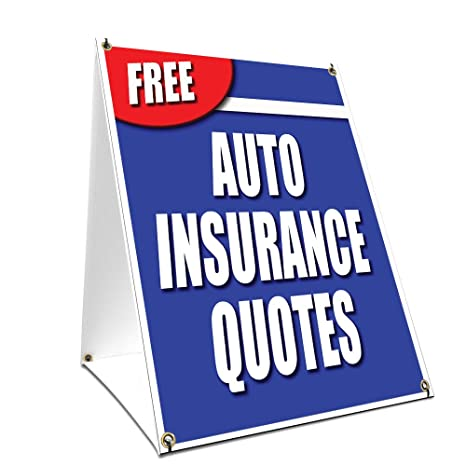Amazon AFrame Sidewalk Free Auto Insurance Quotes Sign With Mesmerizing Free Insurance Quotes