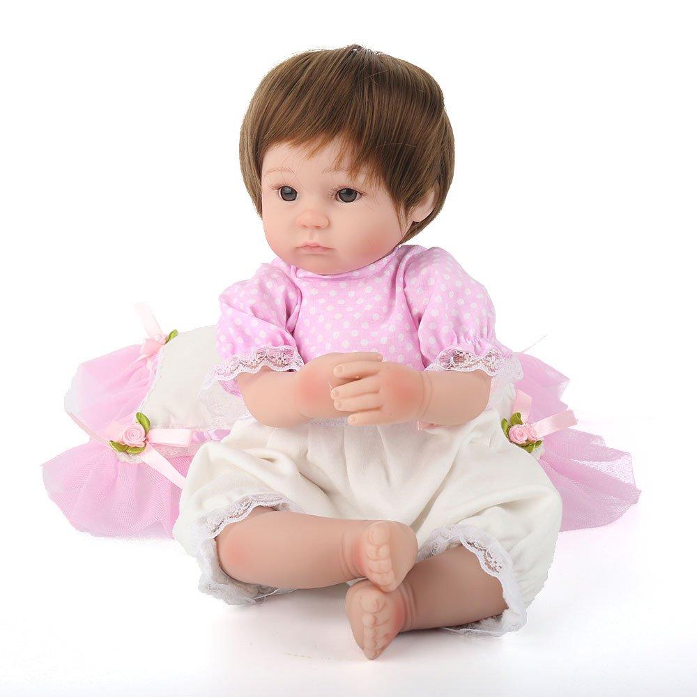 Promoción por tiempo limitado CY doll Simulación Renacimiento Bebé Gel De Sílice Suave Regalo De Cumpleaños del Niño Realistic Baby Dolls