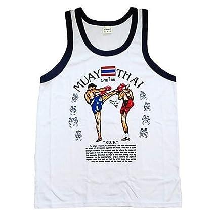 aus Thailand Herren Tank Top Singlet Gym Muay Thai Herren T-Shirt 100/% Baumwolle