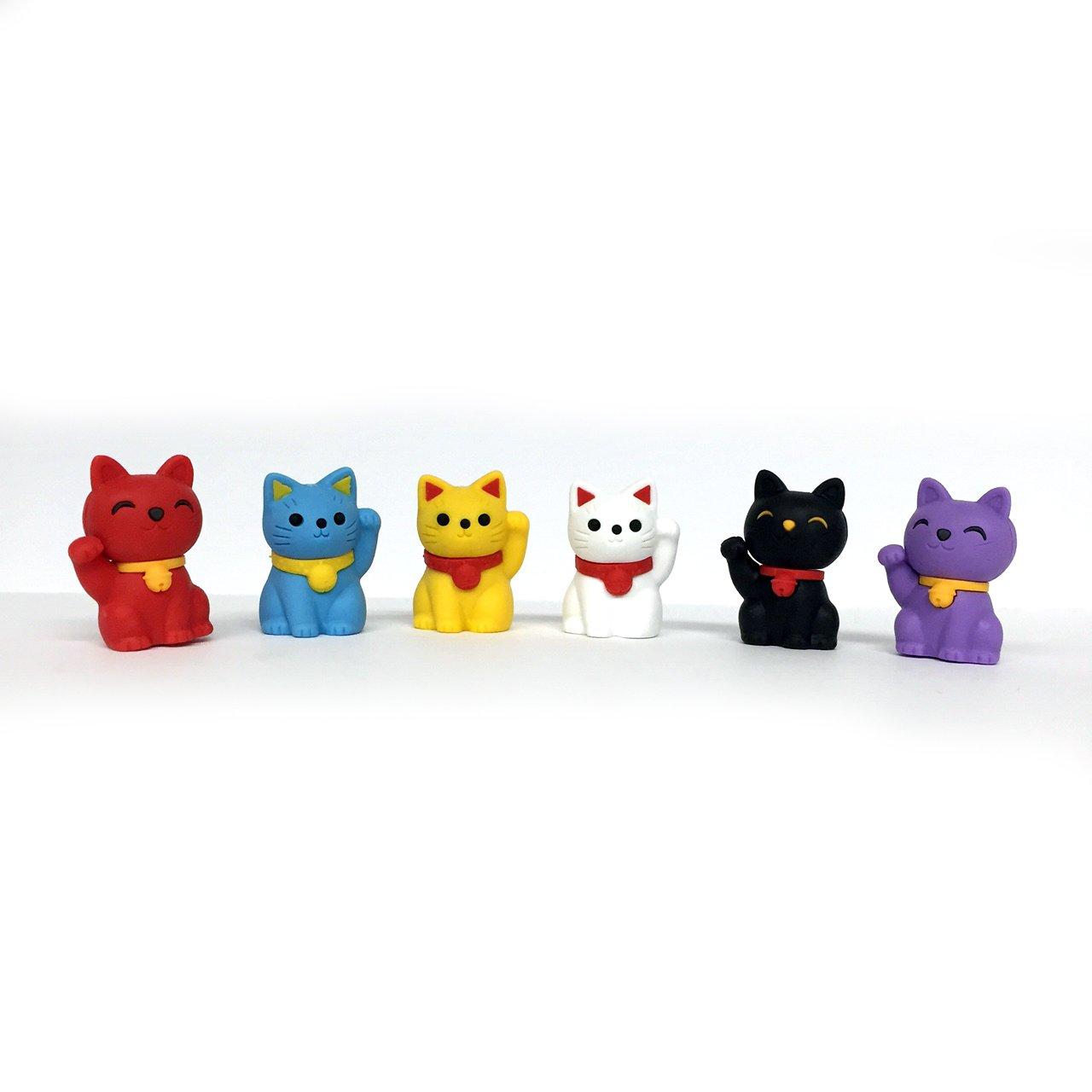 Iwako Lucky Good Fortune Cat Japanese Erasers