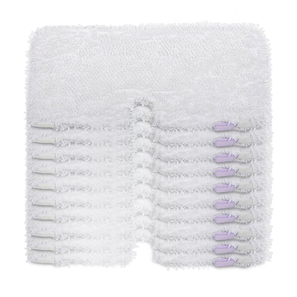 OuyFilters Washable Microfiber Cleaning Mop Pads Replacement Steam Mop Pad Covers For Shark Steam Pocket Mops S3550 S3901 S3501 S3601 ( 12.5 x 7 in)
