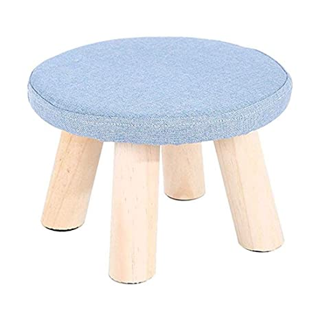 Brilliant Amazon Com Junzh Round Wooden Support Footstool Pabps2019 Chair Design Images Pabps2019Com