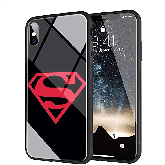 Amazon Com Iphone Xs Max Case Tempered Glass Back Cover