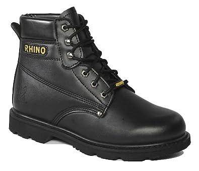 06461ed3927 Rhino 60S21 6 Inch Steel Toe Safety Work Boot - Black