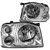 Nissan NP300 Brake Kits - DNA Motoring HL-OH-074-CH-CL1 Pair of Headlight Assembly [01-04 Nissan Frontier]