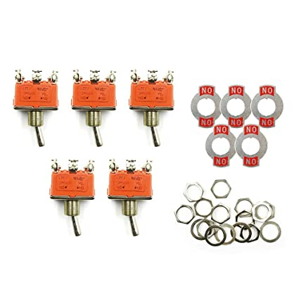 5 Pcs 2-position On-on Dpdt Self-locking Toggle Switch Ac 250v 15a 1321 Home Appliances Home Appliance Parts