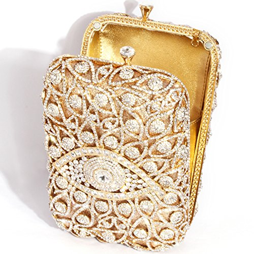 Digabi Gold Evening Crystal Silver Cylindrical Shape Bags Clutch Women 8wrf8aq