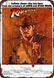 1981 Indiana Jones raiders of the Lost ark movie reproduction metal tin sign 8 x 12