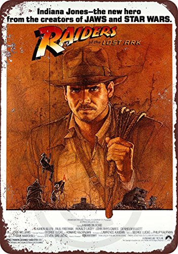 1981 Indiana Jones raiders of the Lost ark movie reproduction metal tin sign 8 x 12 by Custom Kraze