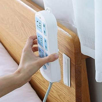 Seamless Magic Punch-free ABS Socket Plug Holder Sticker Power Strip Wall Fixer