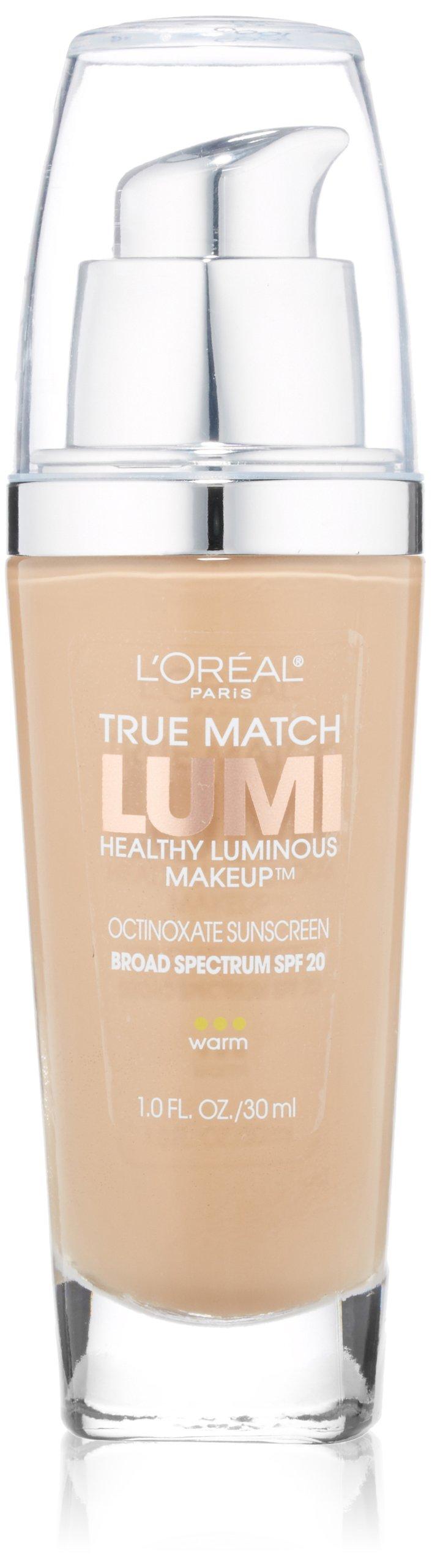 L'Oreal Paris True Match Lumi Healthy Luminous Makeup, W4 Natural Beige, 1 fl; oz.