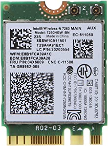 Ontracker WLAN Card WLAN Stick Wireless Adapter Network Card for Lenovo Thinkpad T440 W540 L440 T450P Int-EL 7260NGW BN Wireless WLAN Card 04W3830 / 04X6009 / 04X6086