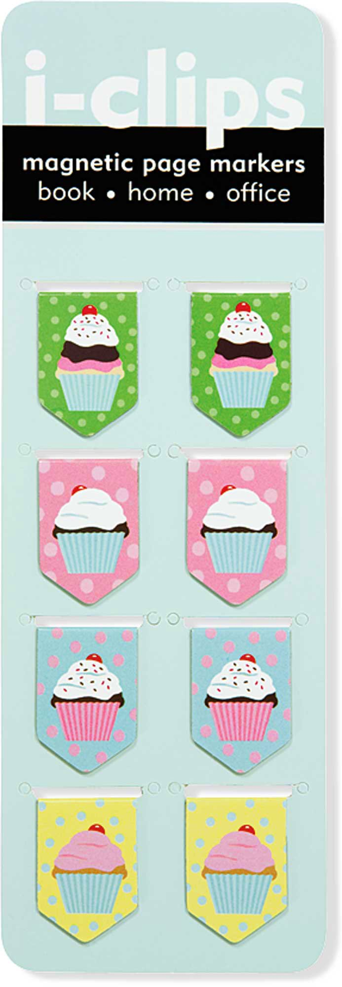 Cupcake i-clips Magnetic Bookmarks by Peter Pauper Press (Image #1)