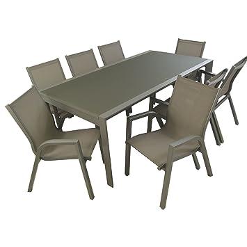 Conjunto para jardín | Mesa Extensible 200/300 y 8 sillones ...