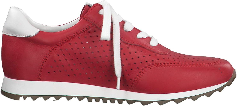 Tamaris Donna Scarpe Stringate Basse 23610-24, Sneaker,Sottopiede Removibile Red White Rosso