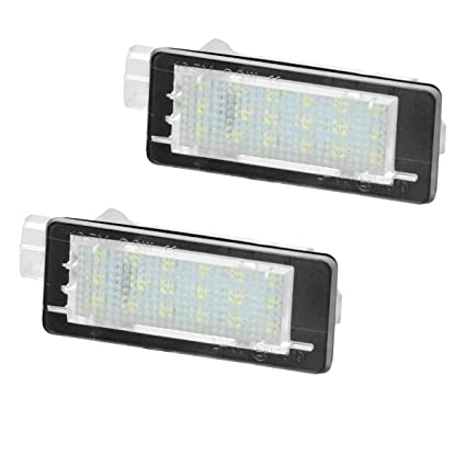 ECD Germany 2X Luces LED para matr/ículas con con E-Mark 6000K Xenon para Coche Blanco