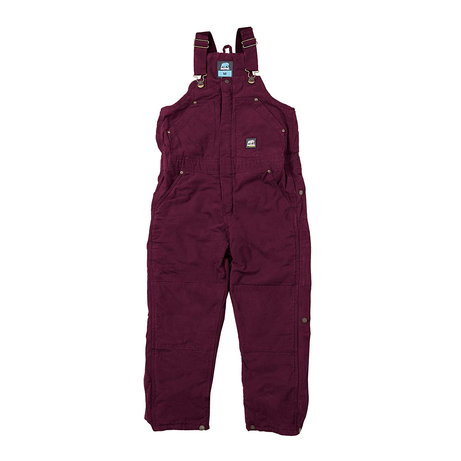 Berne Apparel BB21 Youths Sanded INS Bib Quilt Lined Overall Plum Large